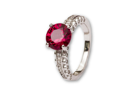 Pop-Up Ruby Sterling Silver Ring