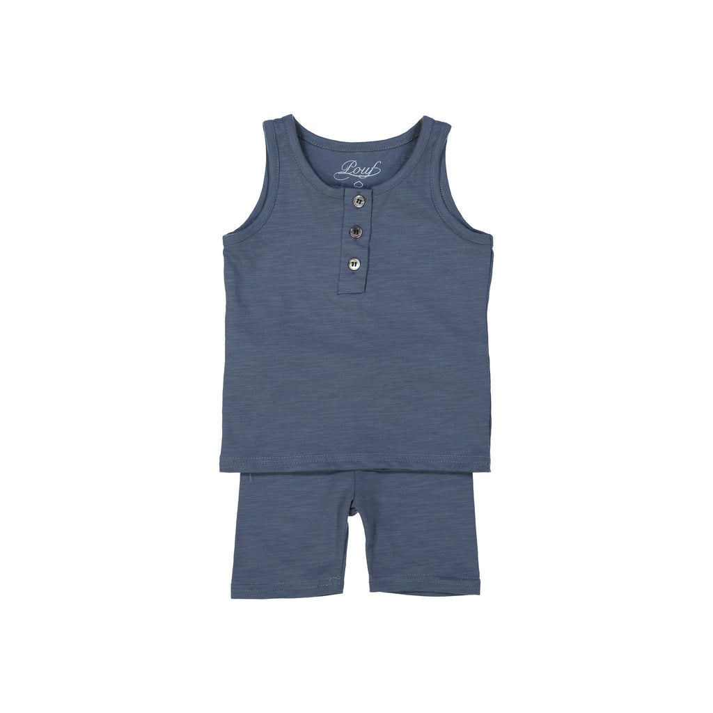 Henley Tank Pajamas - Midnight