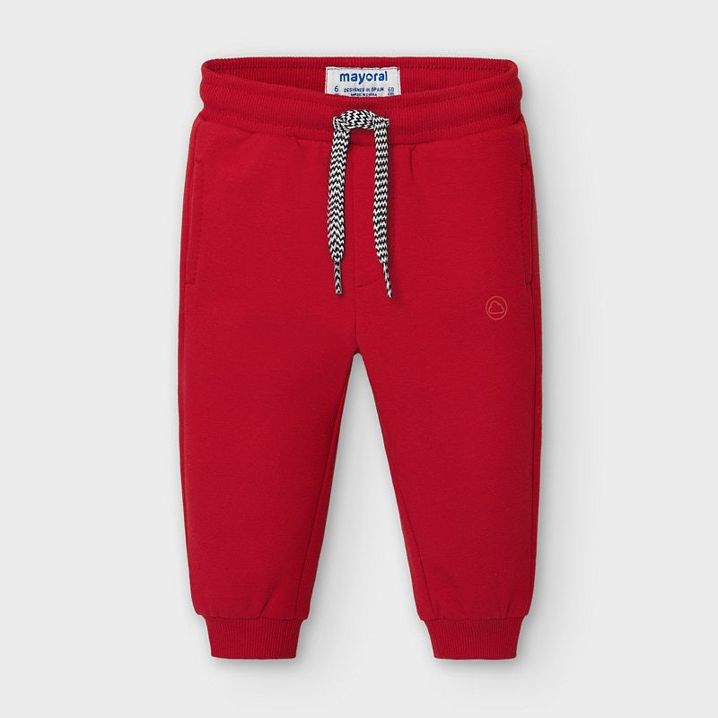 Basic Fleece Joggers - Red