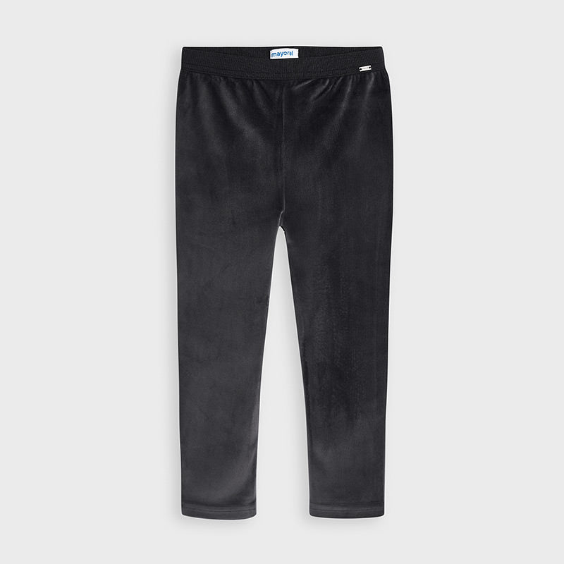 Velour Leggings - Charcoal