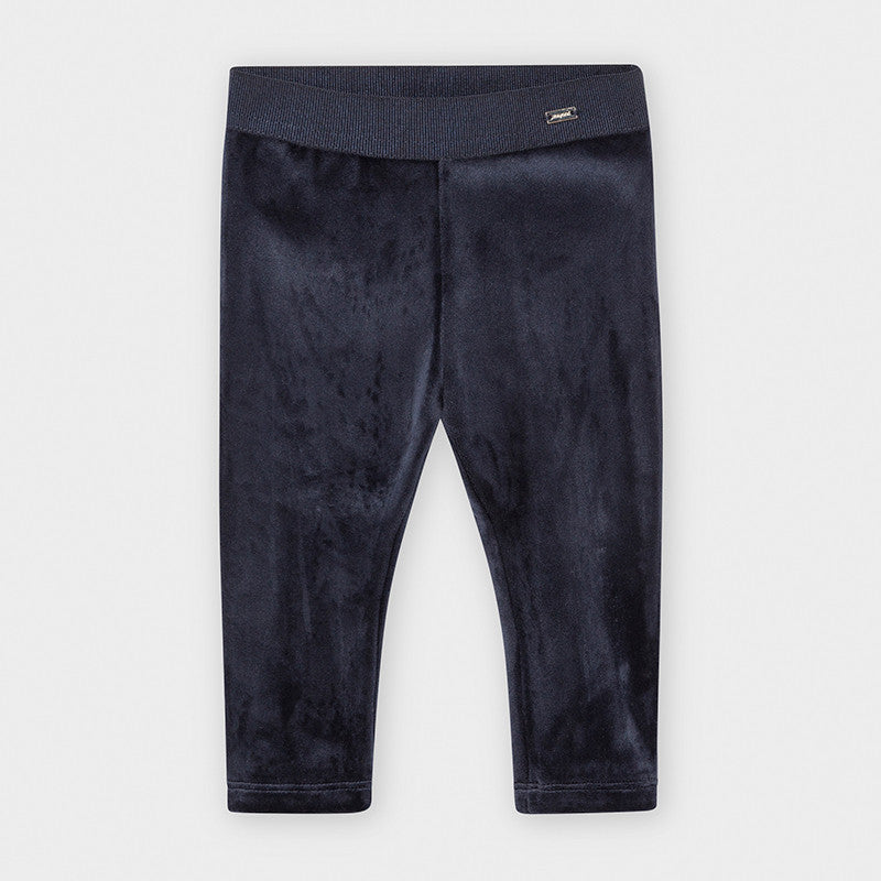 Velour Baby Leggings - Navy
