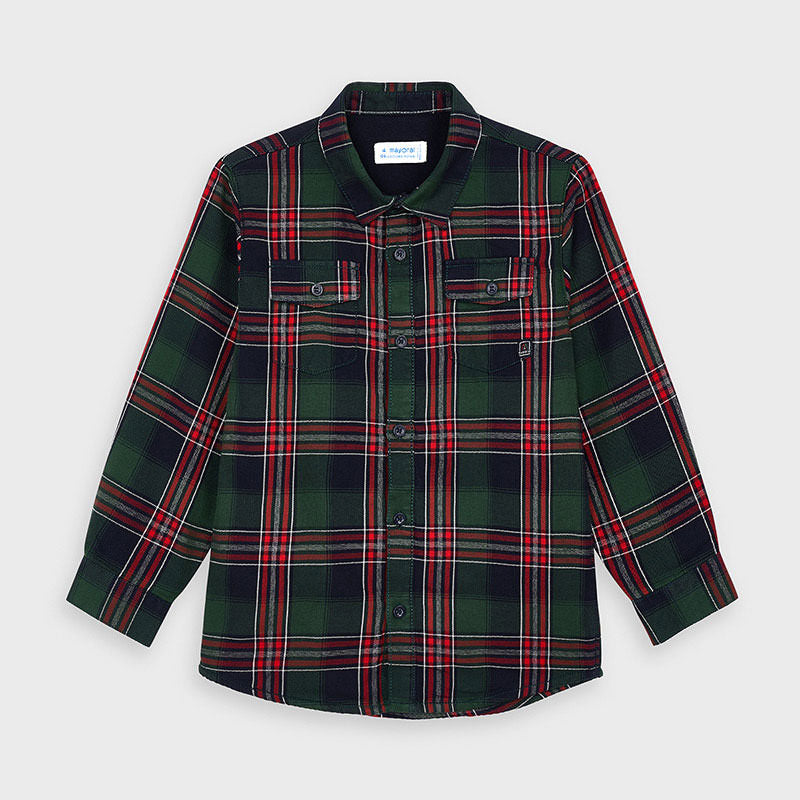 Lined Flannel Shirt - Hunter Green