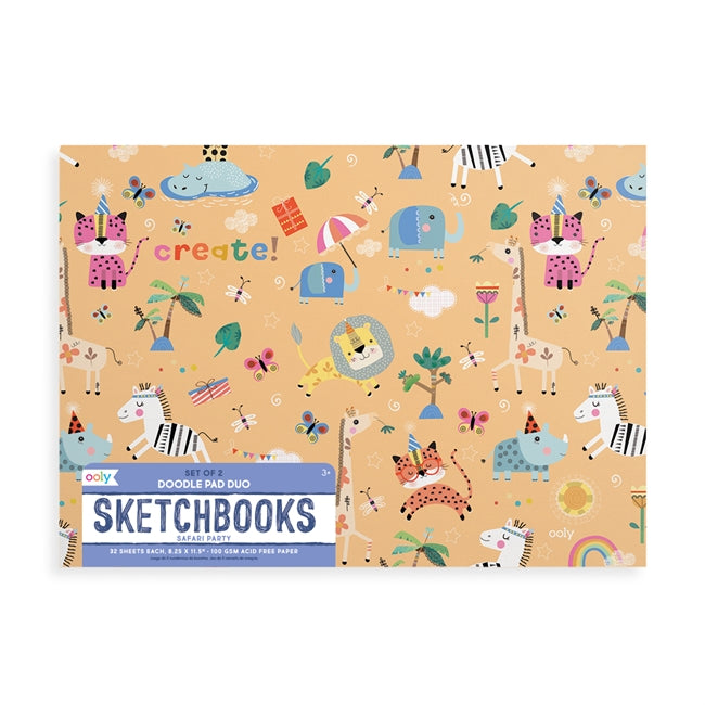 Doodle Pad Duo Sketchbooks - Safari Party