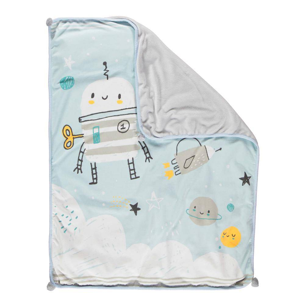 Space Robot Plush Blanket