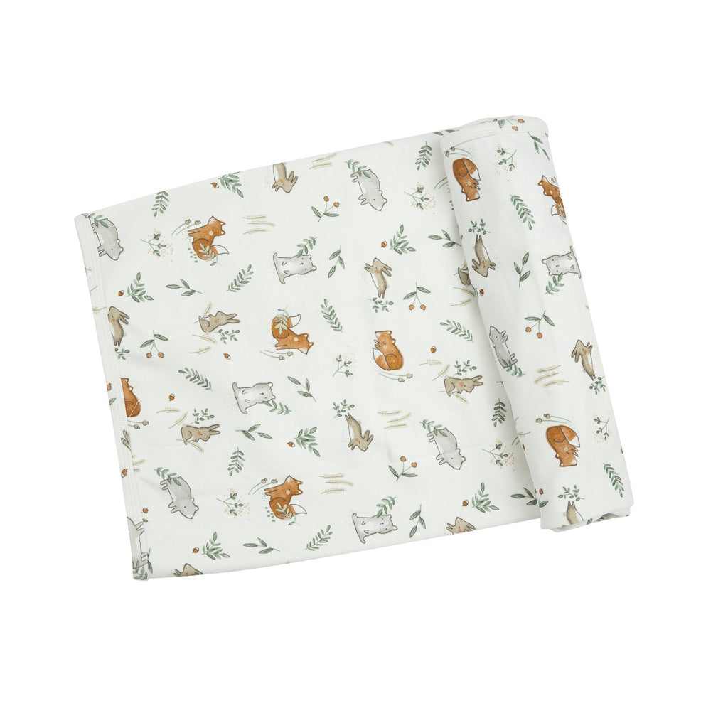Organic Cotton Blanket - Delicate Woodland