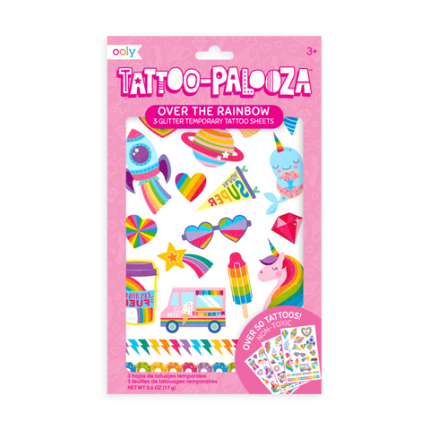 Temporary Tattoos - Over the Rainbow (Glitter)