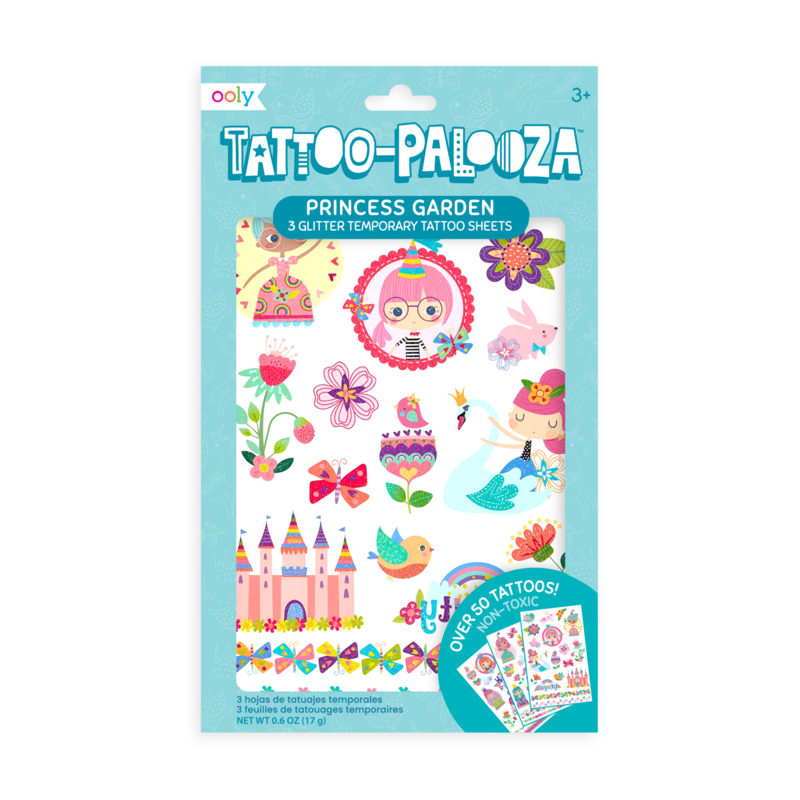 Temporary Tattoos - Princess Garden (Glitter)