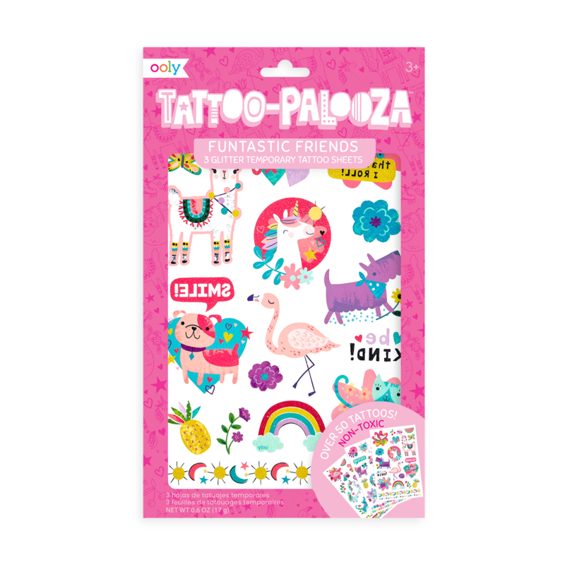 Temporary Tattoos - Funtastic Friends (Glitter)
