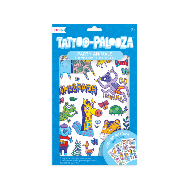 Temporary Tattoos - Party Animals