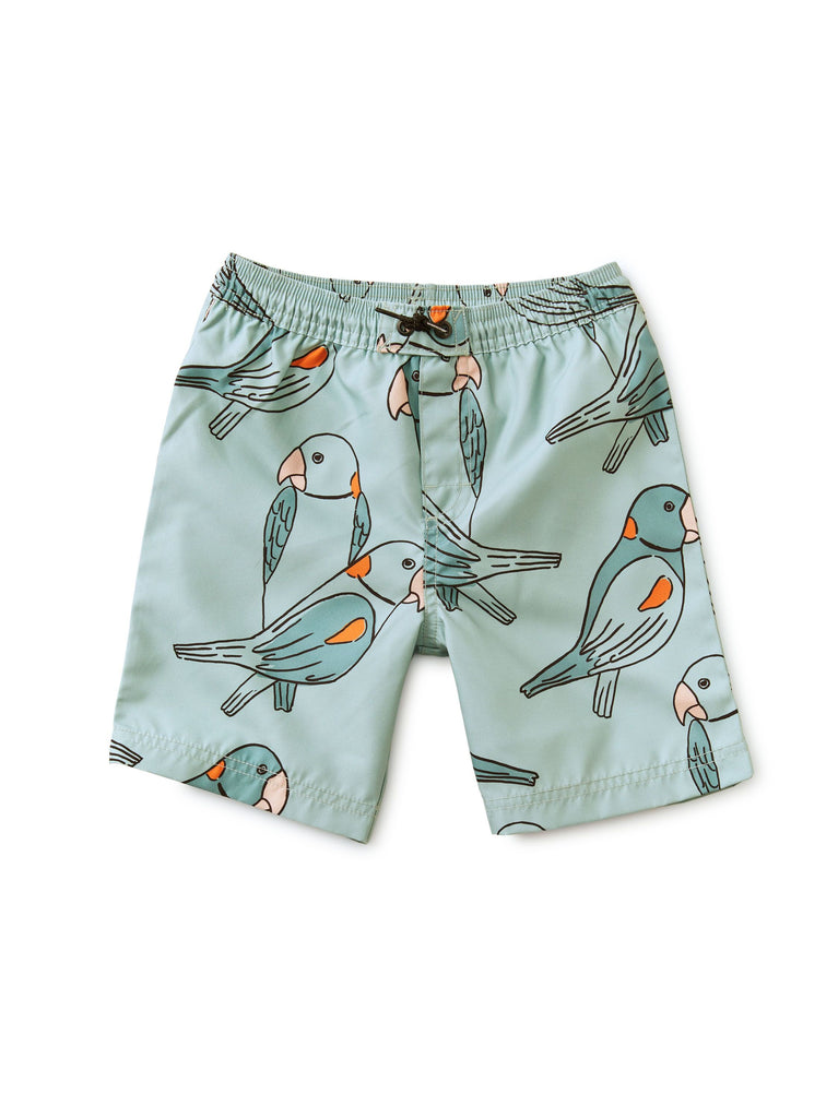 Full-Length Swim Trunks - Parakeets