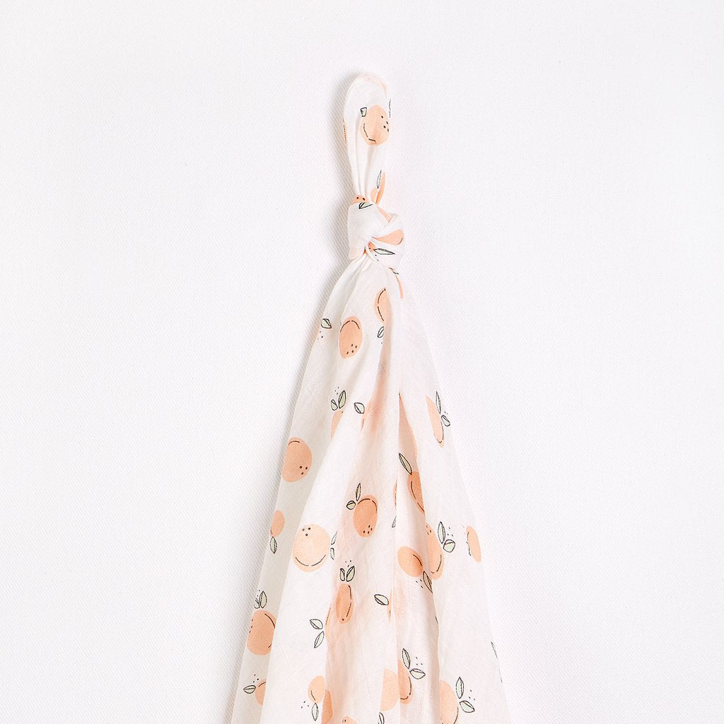 Peaches Muslin Swaddle
