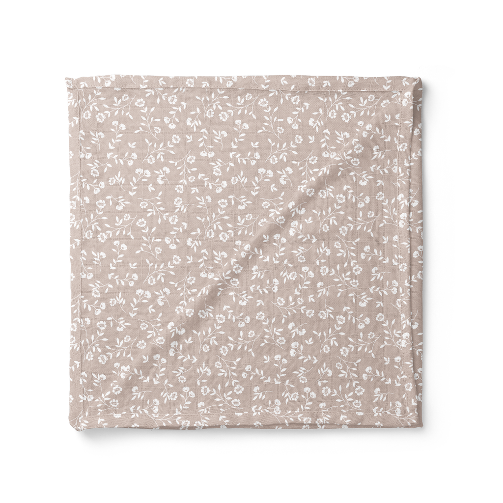 Muslin Swaddle - Wild Flower, Taupe