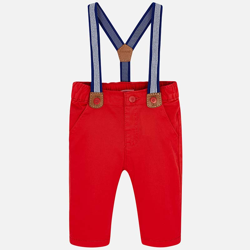 Pants with Removable Suspenders
