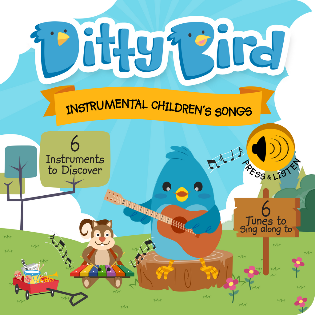 Ditty Bird Board Book - Instrumental Songs