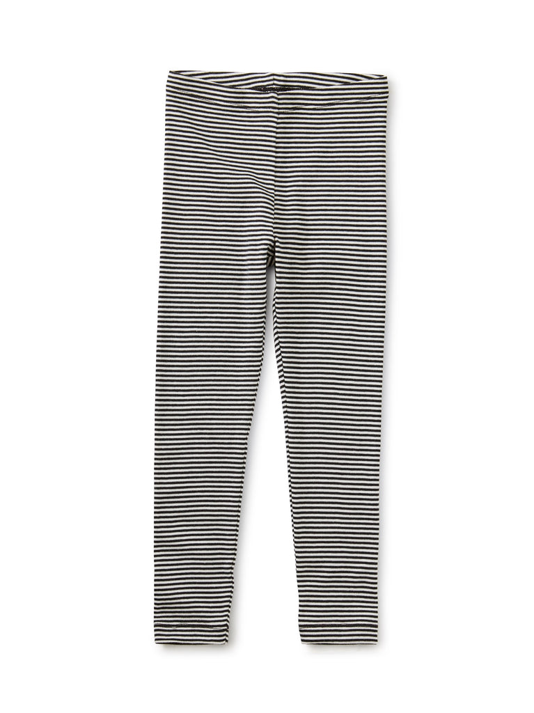 Striped Leggings - Jet Black