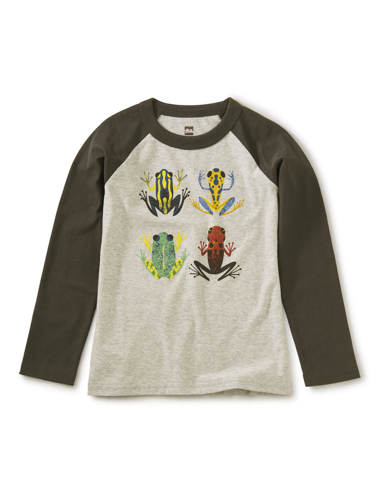 Cloud Forest Frogs Raglan Graphic Tee