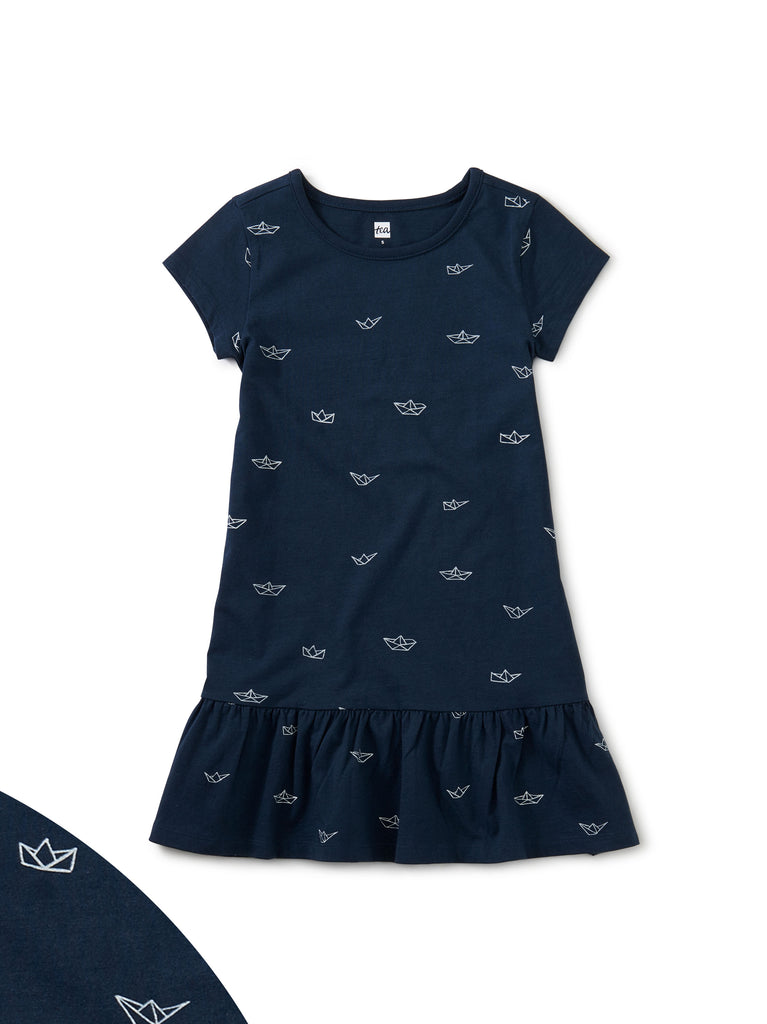 Ruffle Hem Dress - Paper Sailboats