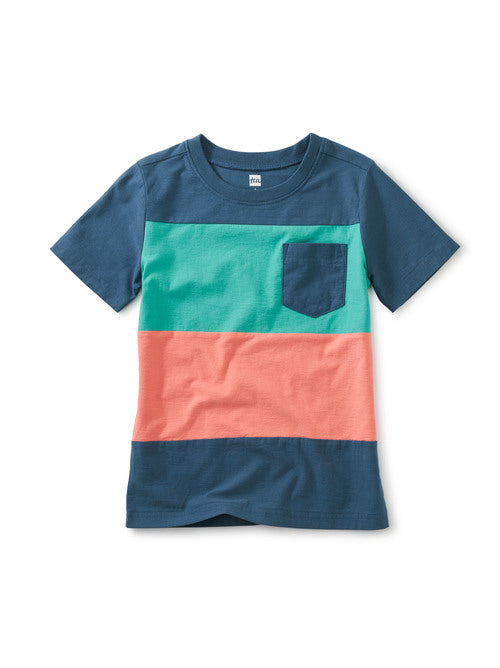Pop Pocket Tee - Teal