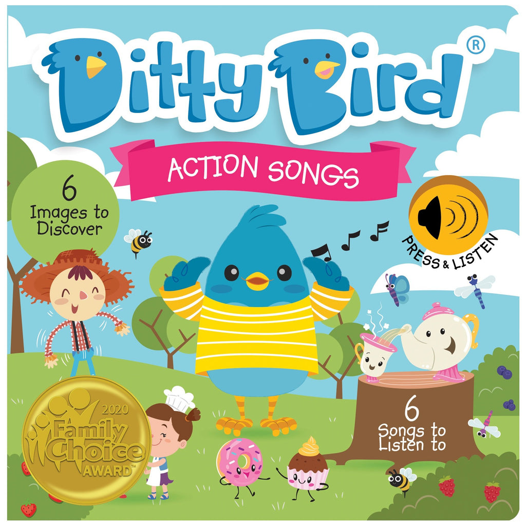 Ditty Bird Board Book - Action Songs