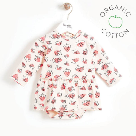 Song Strawberry Bodysuit Dress