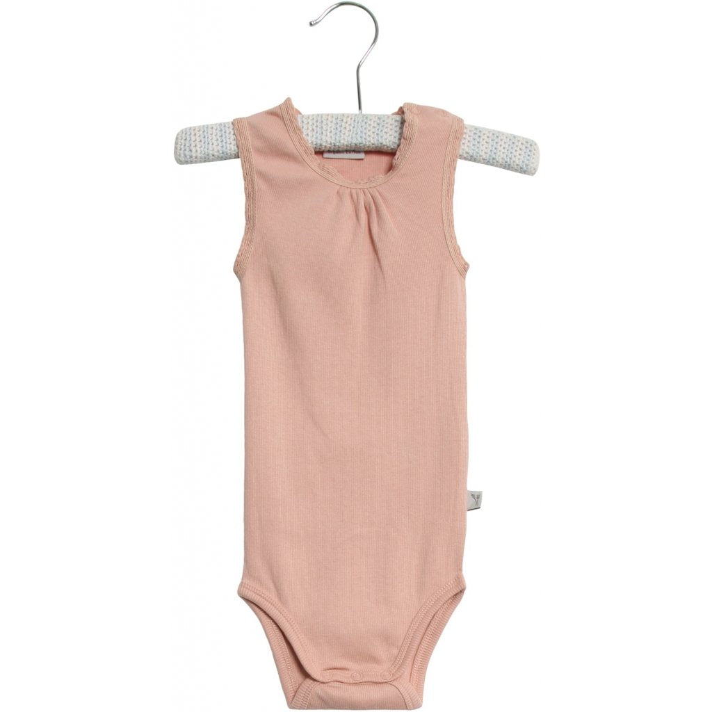 Wheat Rib Sleeveless Bodysuit