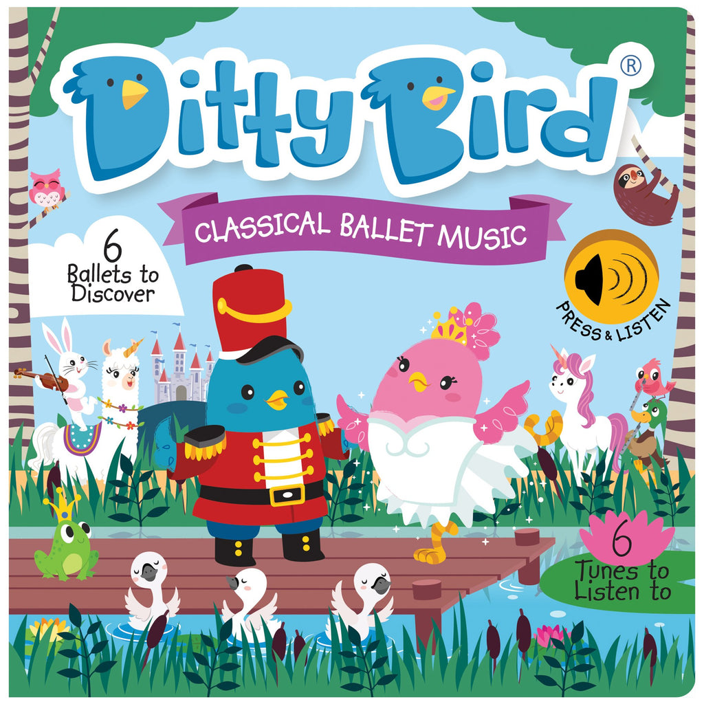 Ditty Bird Board Book - Classical Ballet Music