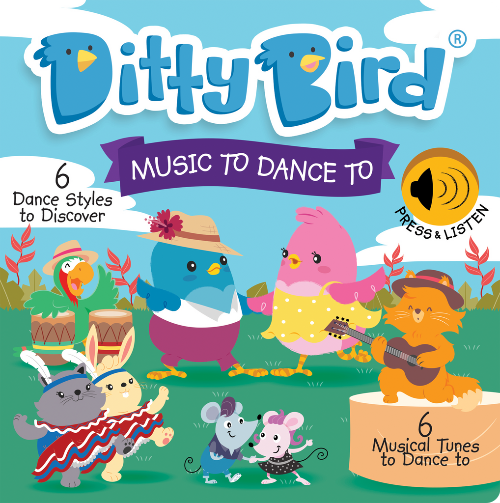 Ditty Bird Board Book - Music To Dance To