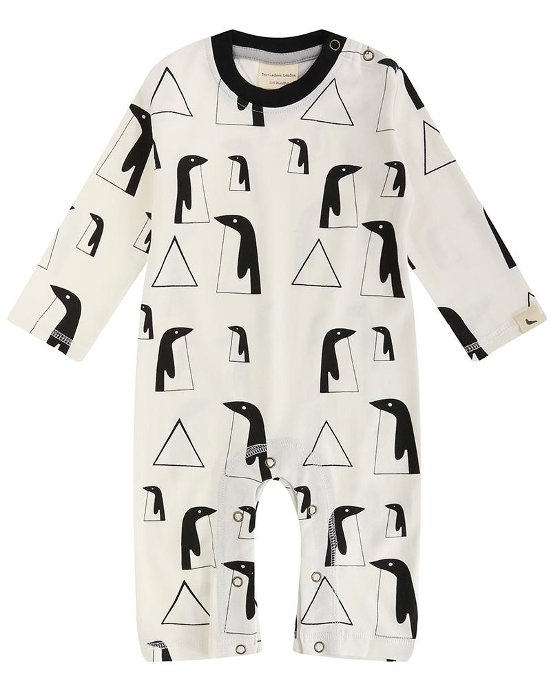 Penguin Family Playsuit