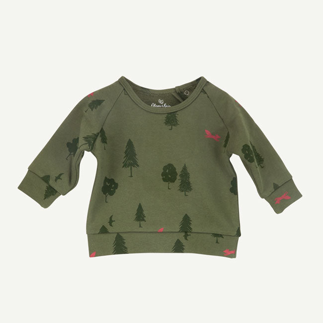Tree Print Pullover