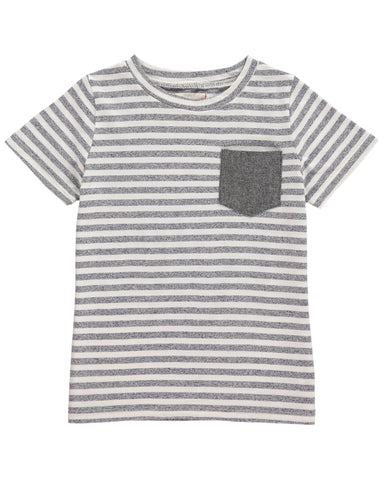 Me + Henry Navy Striped Tee