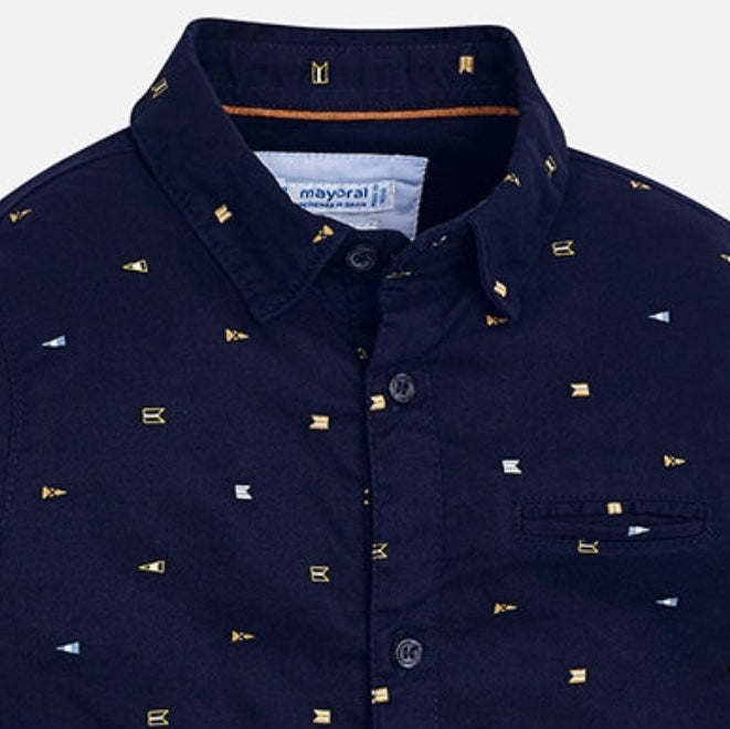 Nautical Flag Button Down Shirt