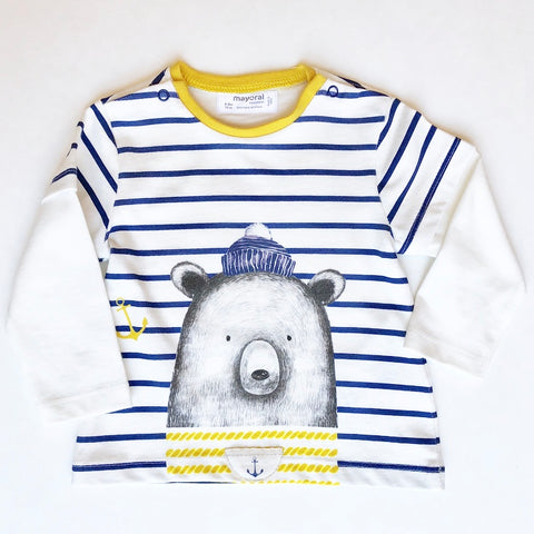 Sailor Bear Stripe Tee