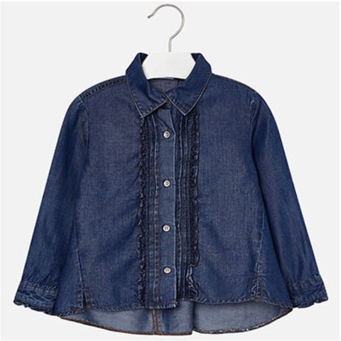 Denim Button Down Blouse