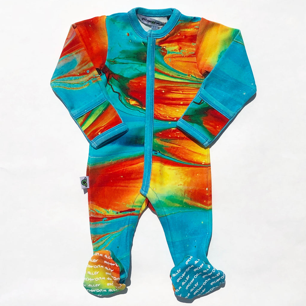 Long Sleeve Organic Baby Footie
