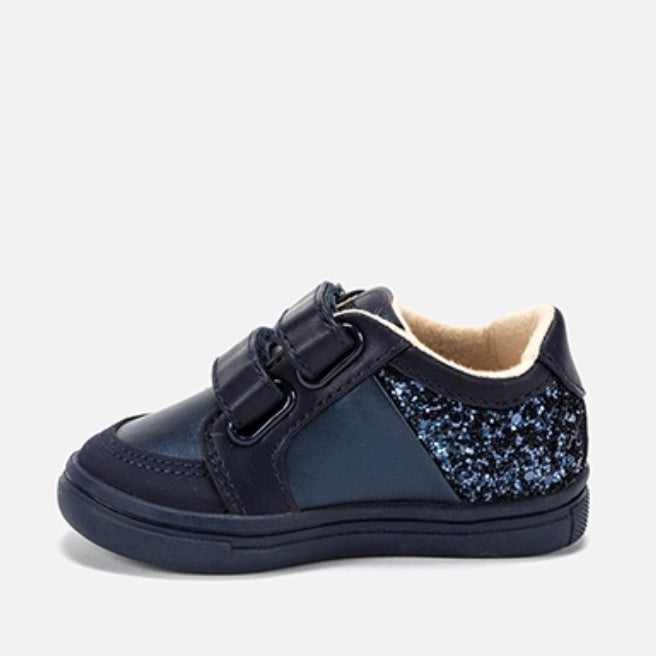 Navy Glitter Trainers