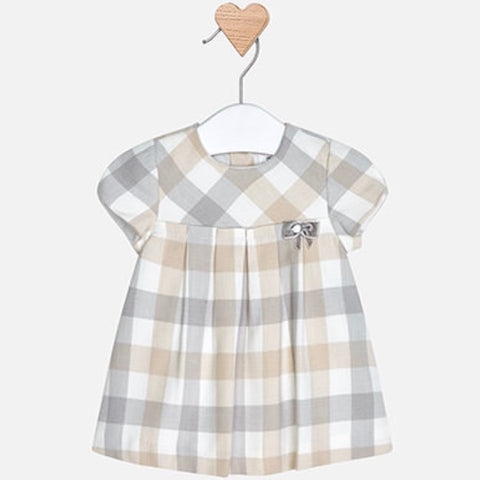 Pleated Check Dress