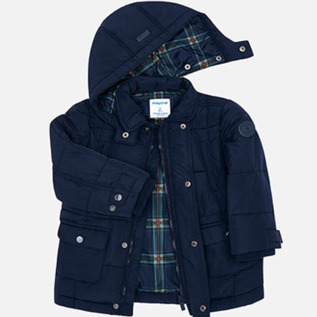 Plaid Lined Winter Jacket