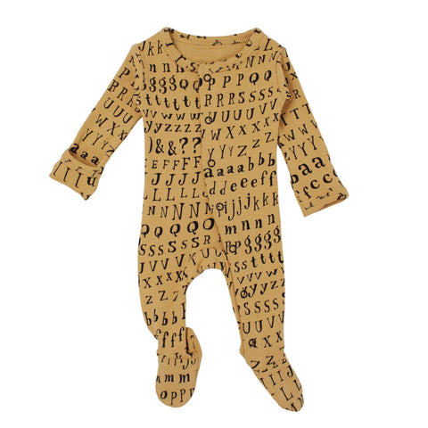 L'ovedbaby Organic Footie - Letters