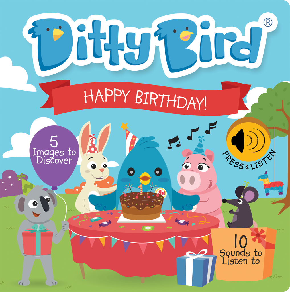 Ditty Bird Board Book - Happy Birthday