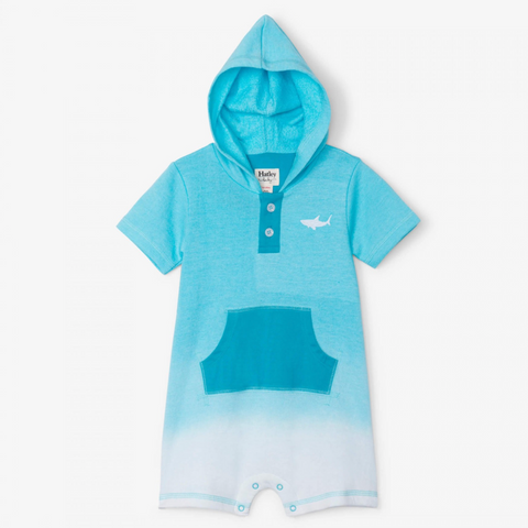 Shark Terry Romper