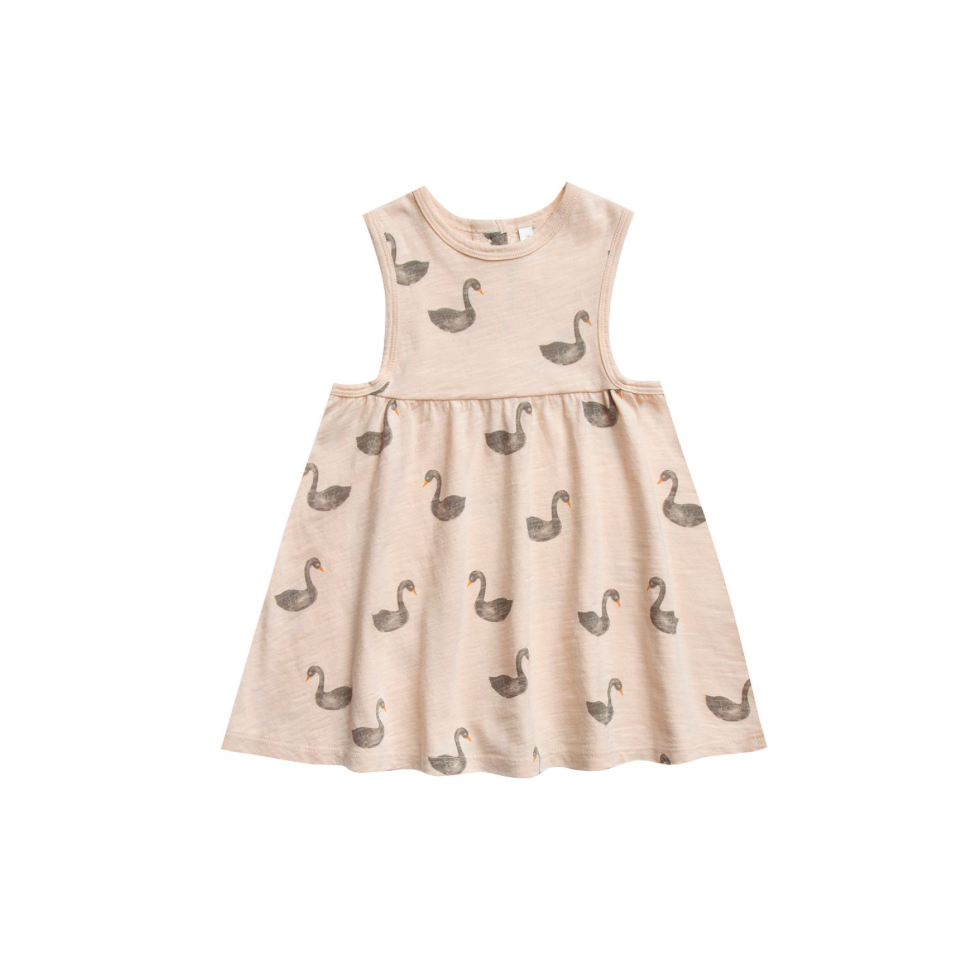 Rylee + Cru Throwback Layla Dress - Swans