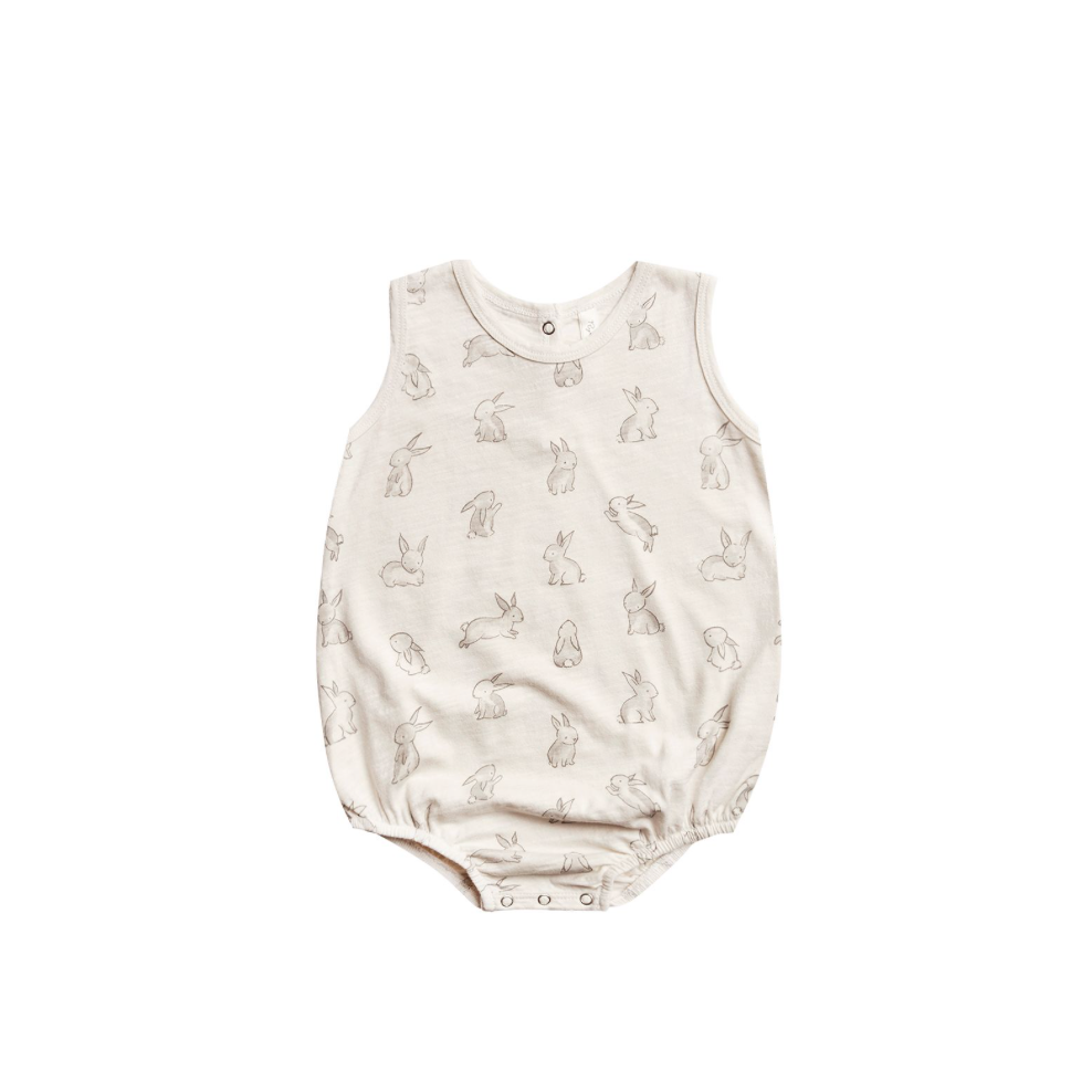 Rylee + Cru Throwback Bubble Onesie - Bunnies