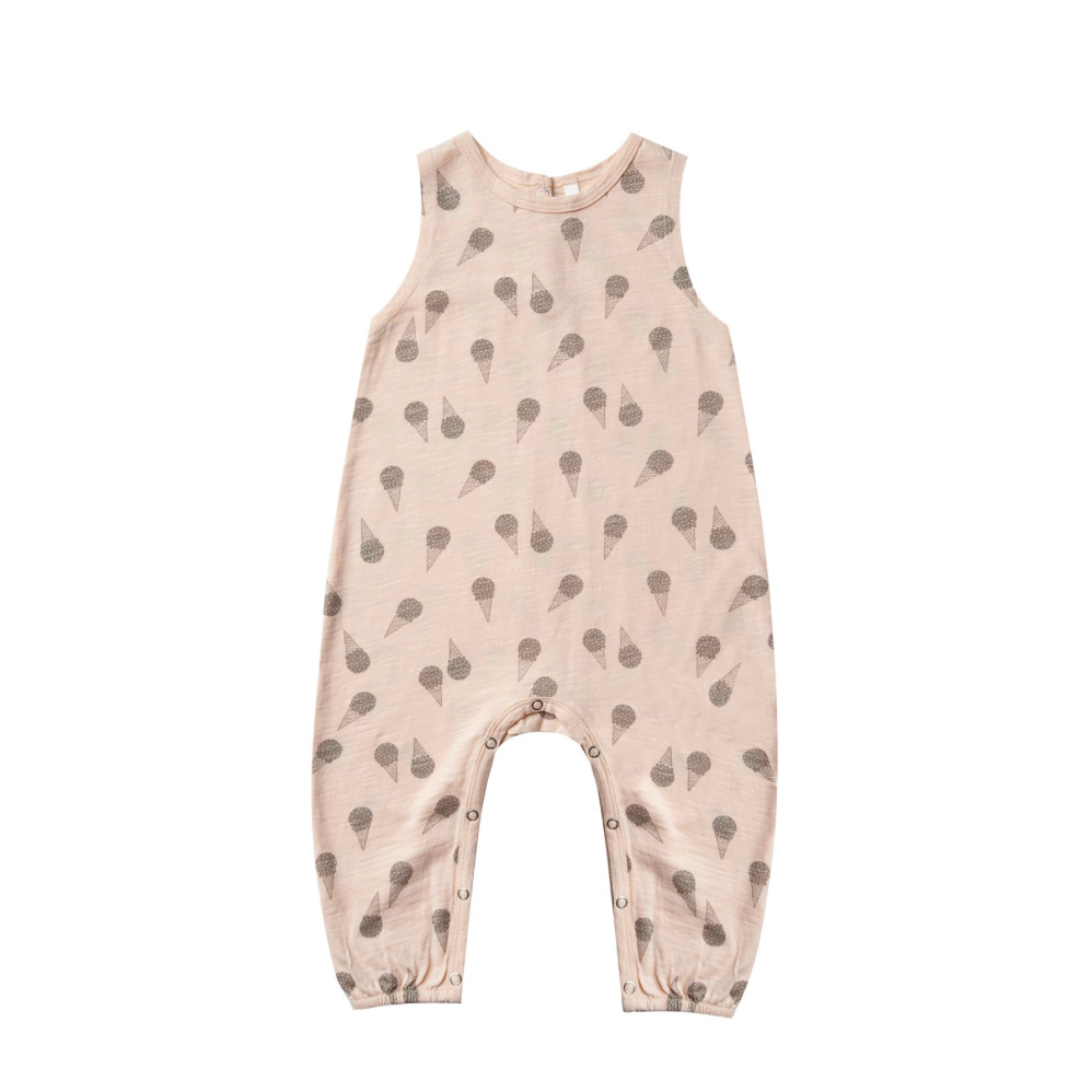 Rylee + Cru Throwback Mills Jumpsuit - Ice Cream