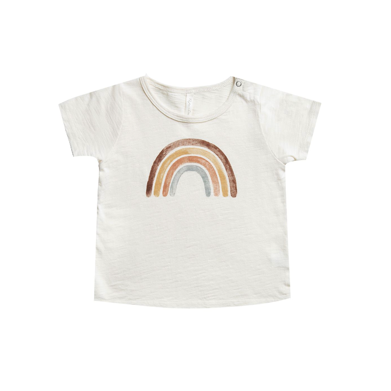 Rylee + Cru Throwback Basic Tee - Rainbow
