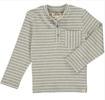 Grey Stripe Henley