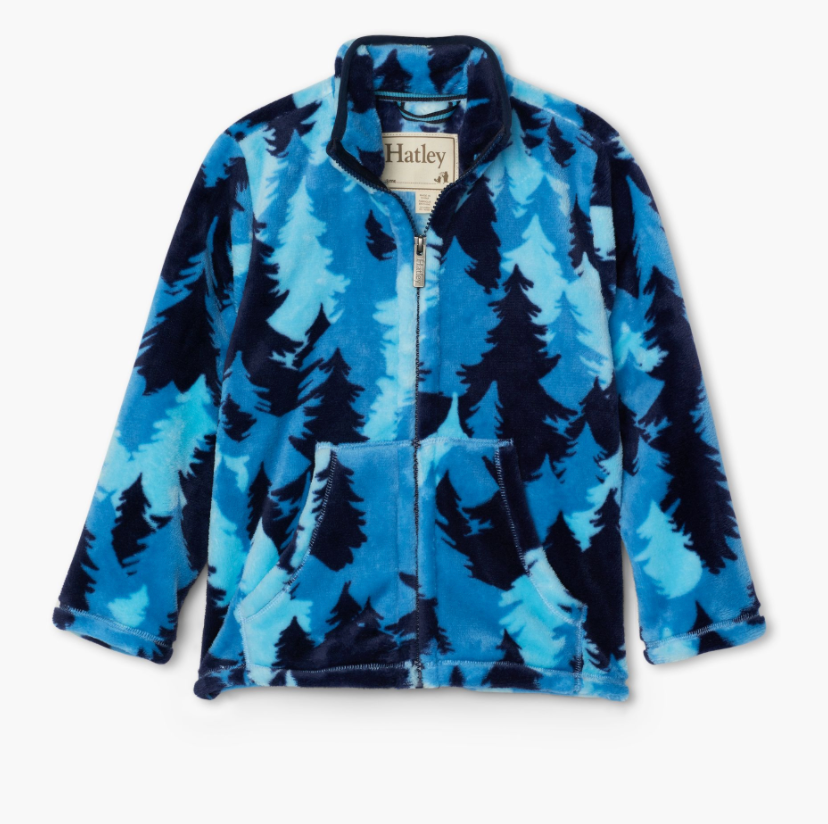 Fuzzy Fleece Jacket - Forest Camo
