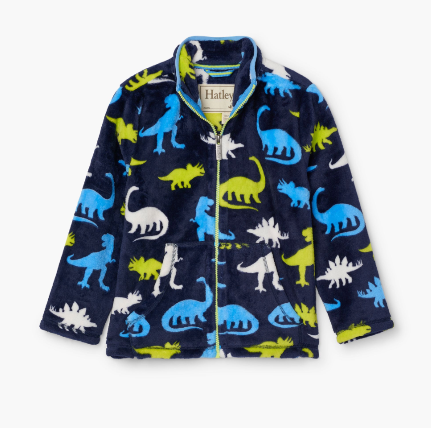 Fuzzy Fleece Jacket - Dinos