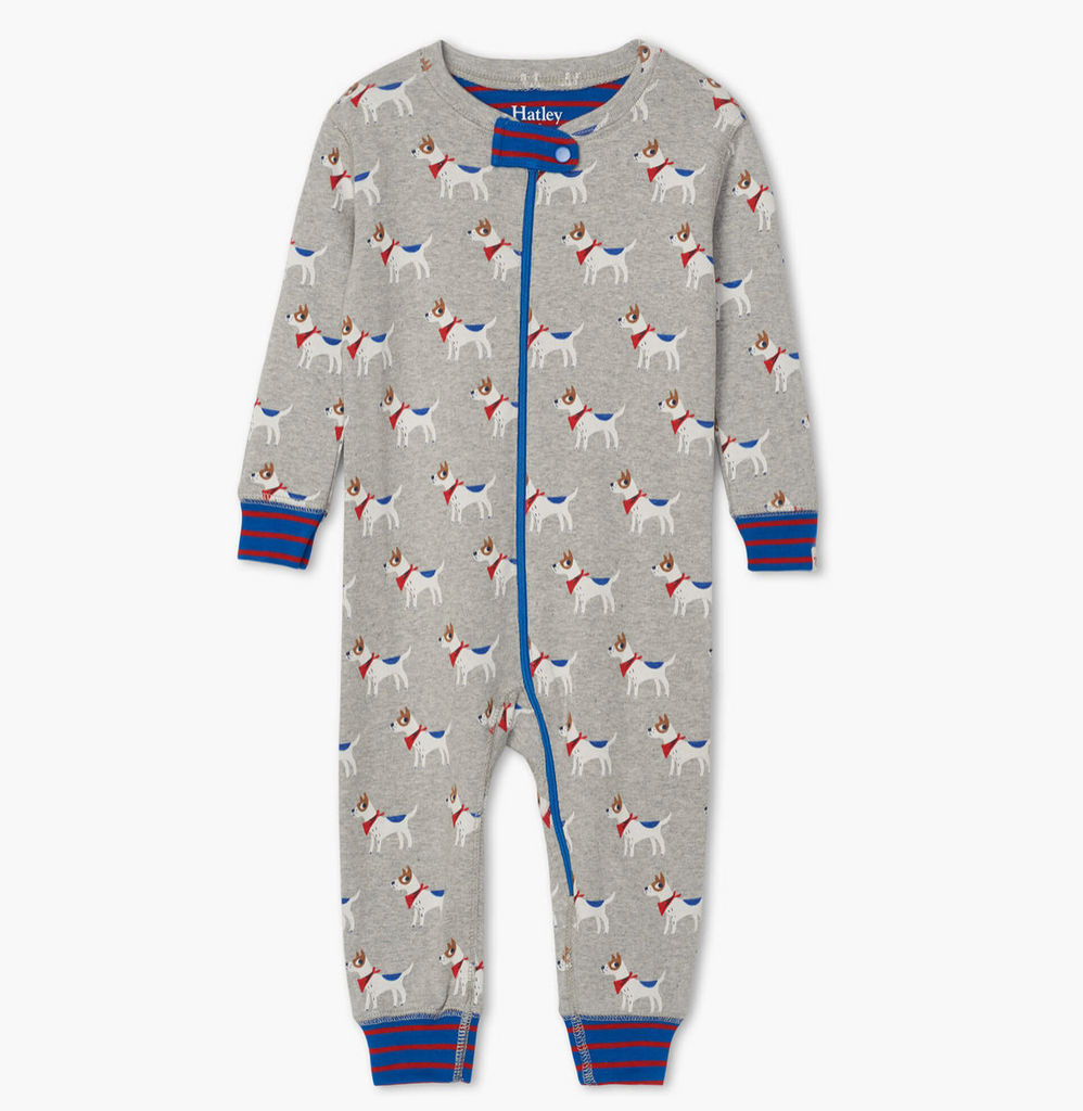 Organic Footless Coverall - Puppies
