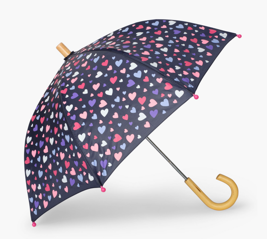 Kids Umbrella - Confetti Hearts