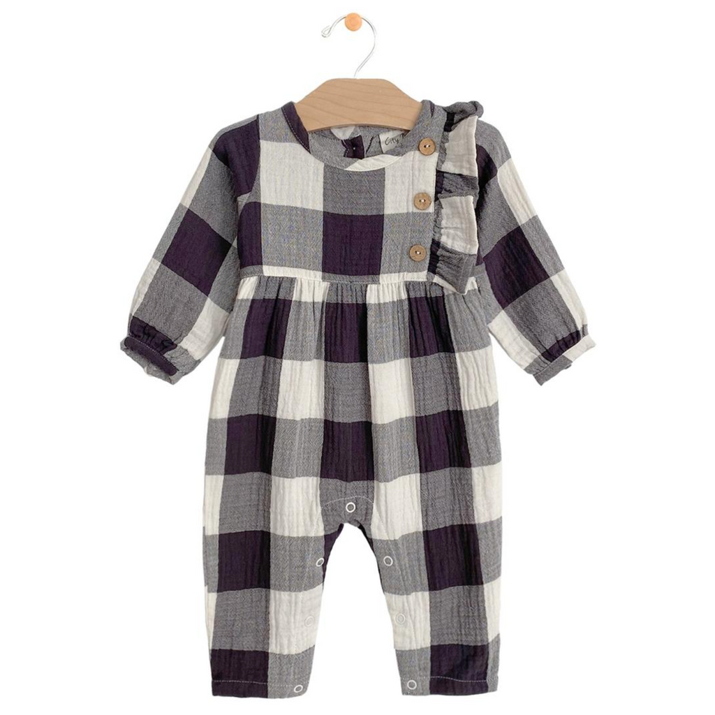 Plaid Muslin Romper